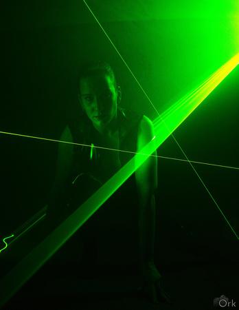 Laserlicht is lastig te vangen