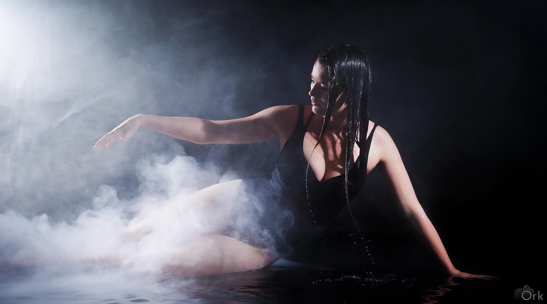 Lynette in het water